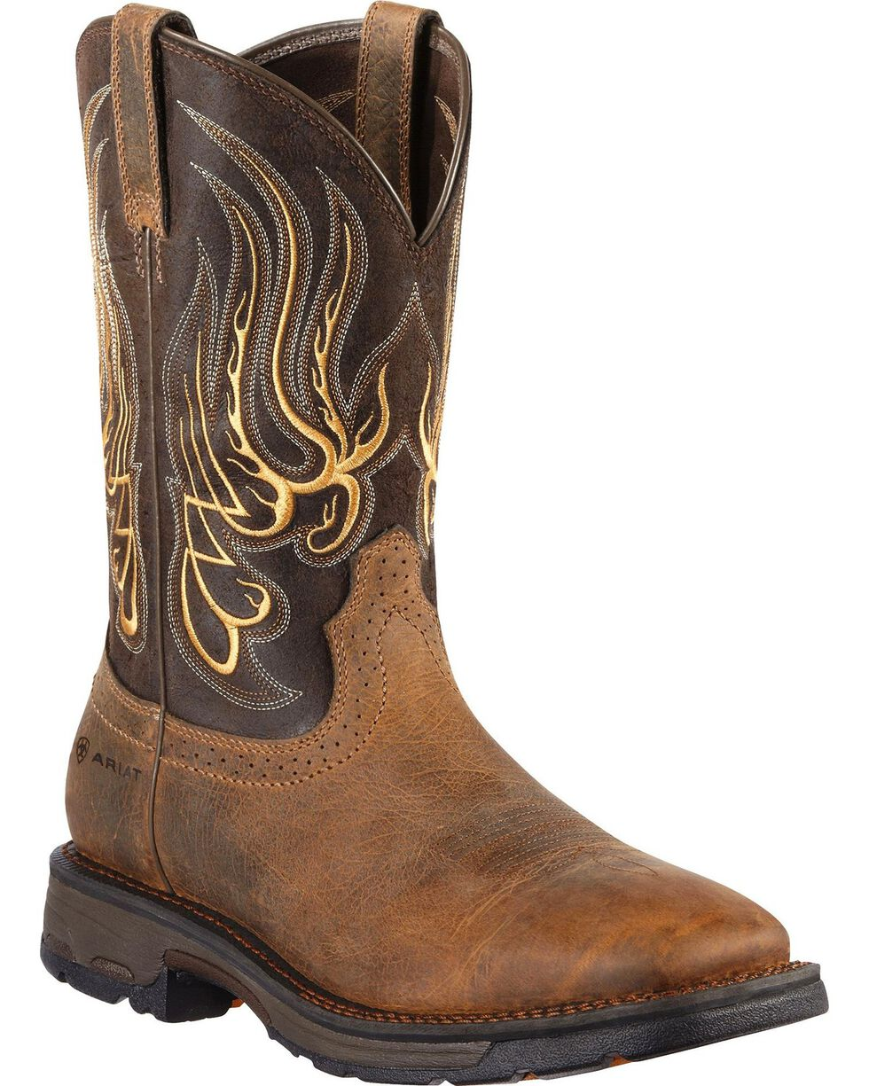 Ariat Men's Workhog Mesteno Western Work Boots, Earth, hi-res