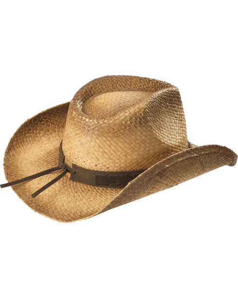 Cody James Contraband Straw Hat , Brown, hi-res