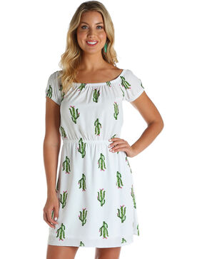 Wrangler Women's Cactus Print Fashion Dress , Multi, hi-res