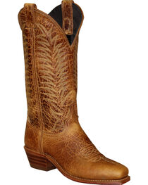 Abilene Women's Textured Bison Western Boots - Square Toe, , hi-res