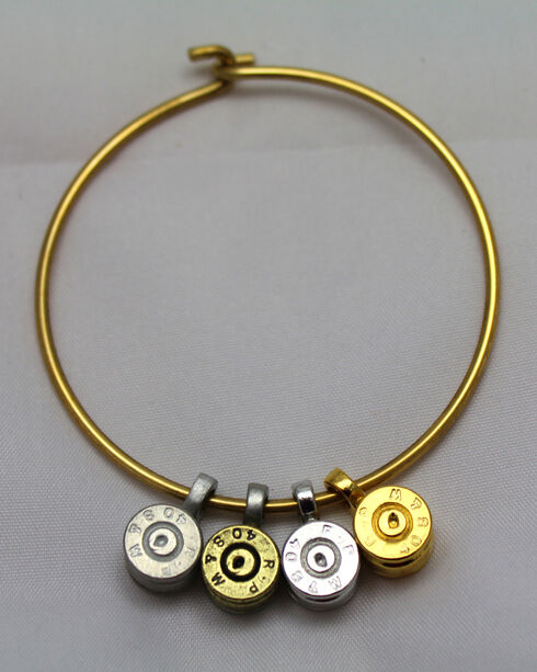 SouthLife Supply Women's Bullet Charm Bracelet, Gold, hi-res