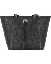 American West Women's Baroque Zip-Top Bucket Tote, , hi-res