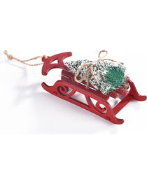 BB Ranch Wooden Sleigh with Tree Ornament, , hi-res