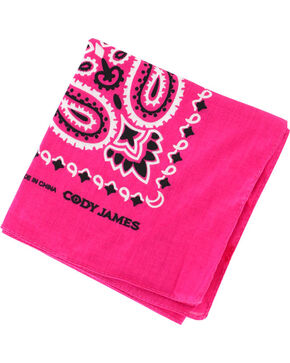 Cody James® Western Bandana, Dark Pink, hi-res