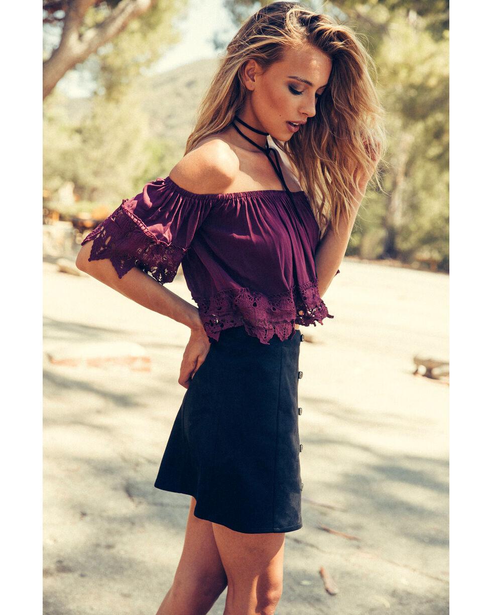Sadie & Sage Women's Black Olivia Mini Skirt , Black, hi-res
