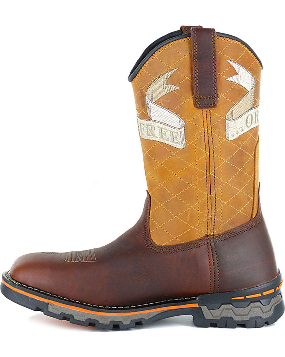 Timberland Men's Embroidered Waterproof Square Toe Boots, Orange, hi-res