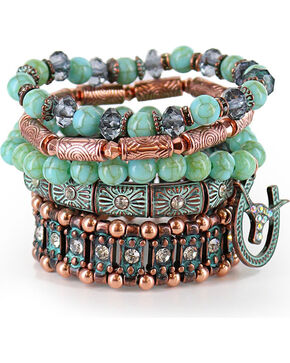 Shyanne® Women's Mixed Bracelet Set, Turquoise, hi-res