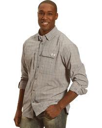 Under Armour Men's Charcoal Grey Fish Hunter Long Sleeve Plaid Shirt , , hi-res