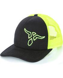 Wrangler 20X Boys' Neon Logo Ball Cap, , hi-res