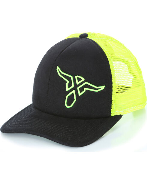 Wrangler 20X Boys' Neon Logo Ball Cap, Black, hi-res
