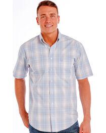 Panhandle Slim Men's Light Blue Rough Stock Ritter Vintage Ombre Plaid Shirt , , hi-res
