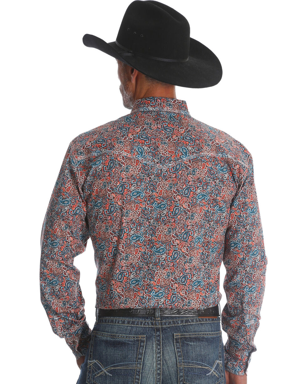 Wrangler 20X Men's Paisley Advanced Comfort Competition Shirt, Multi, hi-res