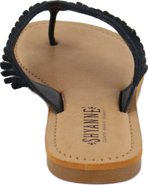 Shyanne® Women's Suede Fringe Sandals, Black, hi-res