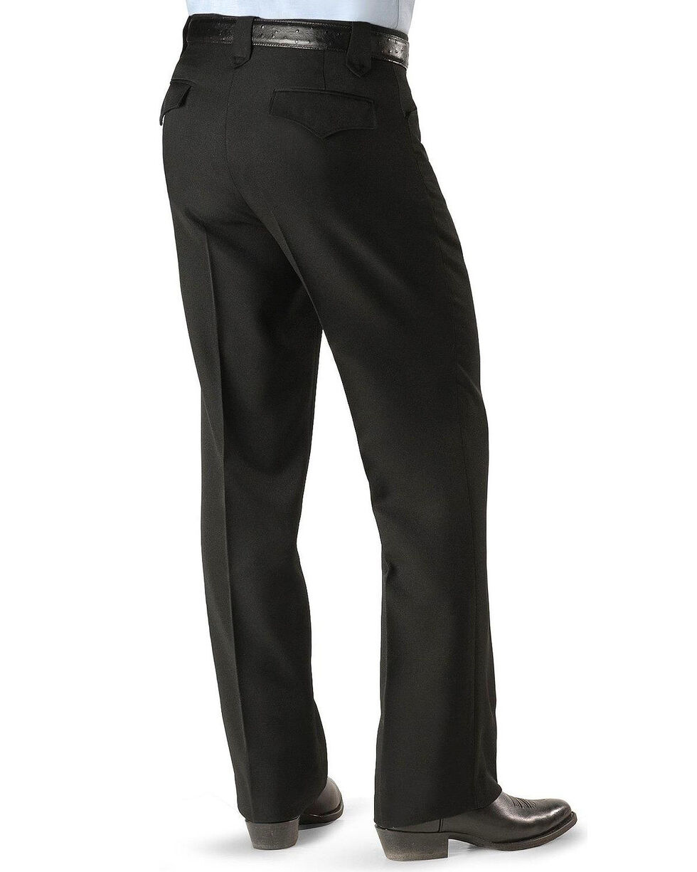 Circle S Men's Lubbock Stretch Slacks, Black, hi-res