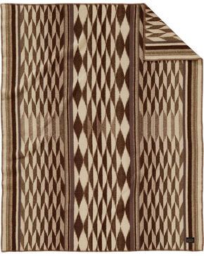 Pendleton Pattern Throw Blanket, Taupe, hi-res