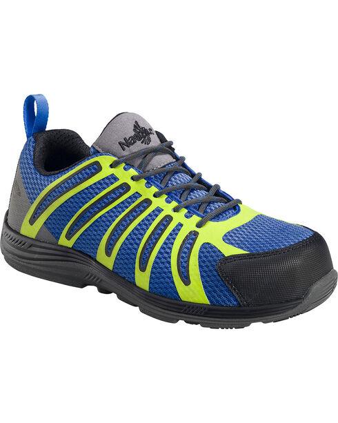Nautilus Women's Soft Toe Slip On Work Shoes, Blue, hi-res