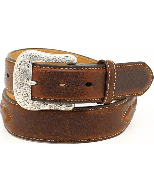 Ariat Men's Leather Concho Belt, Brown, hi-res
