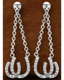 Kelly Herd Sterling Silver Double Horseshoe Earrings , , hi-res