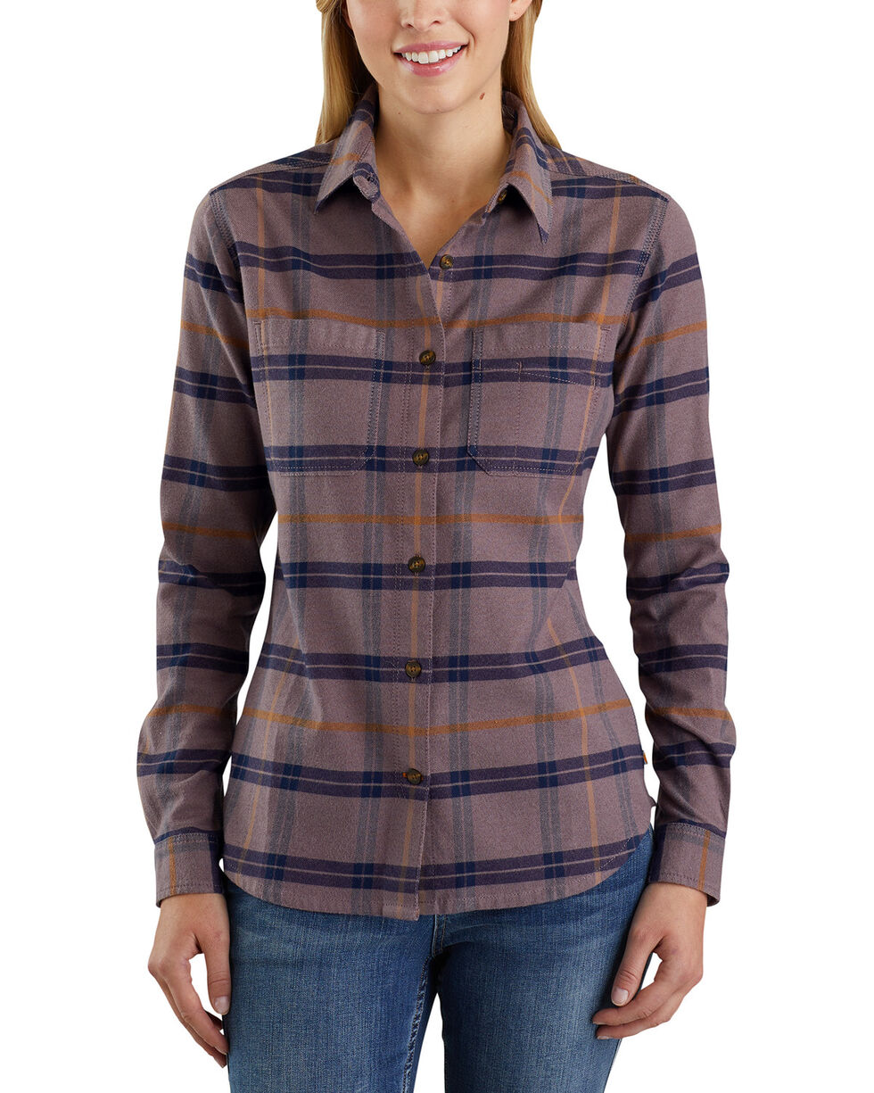 Carhartt Women's Rugged Flex Hamilton Shirt , Burgundy, hi-res
