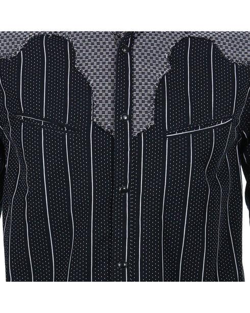 Rock Roll n Soul Men's County Bars Long Sleeve Shirt, Black, hi-res