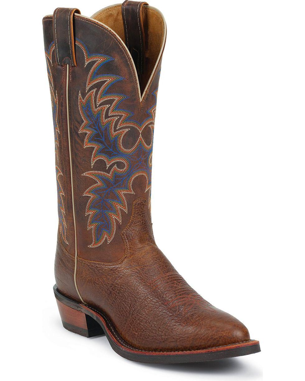 Tony Lama Men's Signature Series Americana Western Boots, Cognac, hi-res