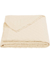 HiEnd Accents Diamond Pattern Cream Linen King Quilt, , hi-res