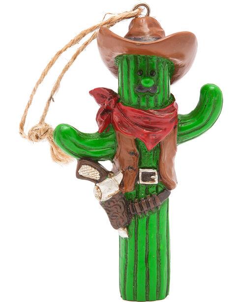BB Ranch Cactus Cowboy Ornament, No Color, hi-res