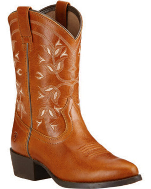 Ariat Girls' Desert Holly Cowgirl Boots - Round Toe, Brown, hi-res