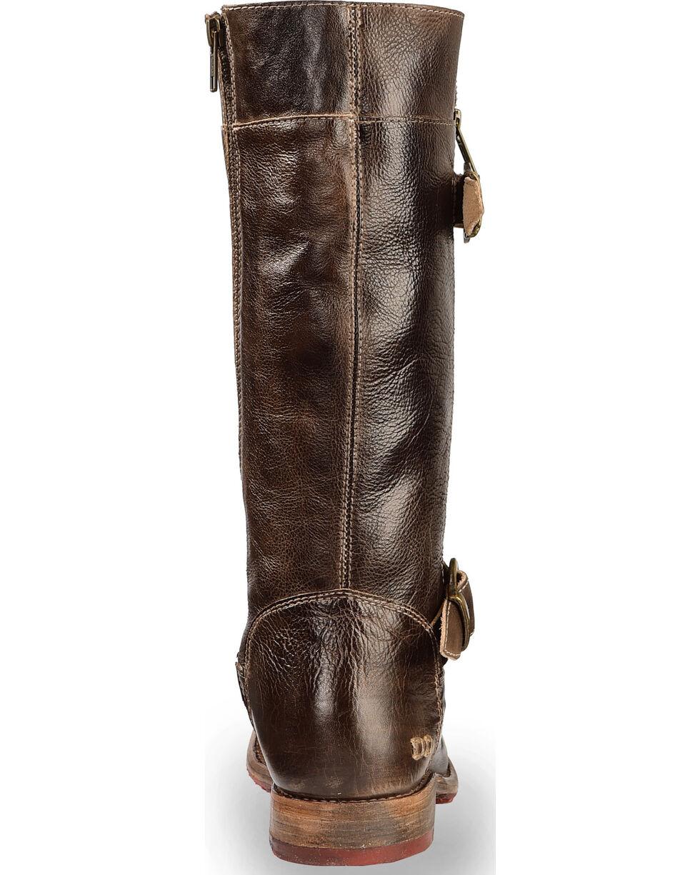 Bed Stu Women's Brown Gogo Lug Strap Boots - Round Toe , Dark Brown, hi-res
