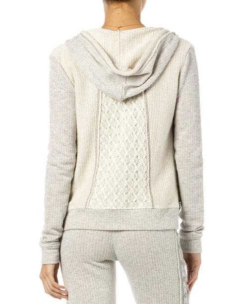 Miss Me Women's Crochet Lace Zippered Hoodie, Hthr Grey, hi-res