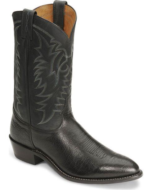 Tony Lama Men's Americana Signature Conquistador Western Boots, Black, hi-res