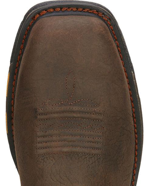 Ariat Men's Workhog Waterproof Comp Toe Met Guard Work Boots, Brown, hi-res