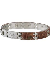Sabona Realtree Camo Stainless Steel Sport Magnetic Bracelet, , hi-res