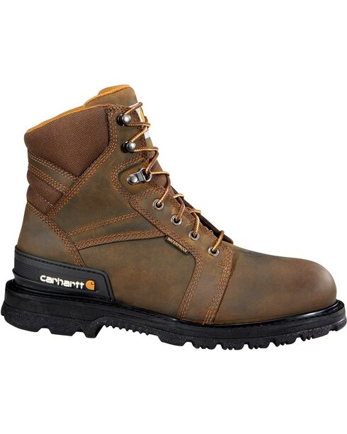 "Carhartt 6"" Lace-Up Work Boots - Safety Toe, Fudge, hi-res"