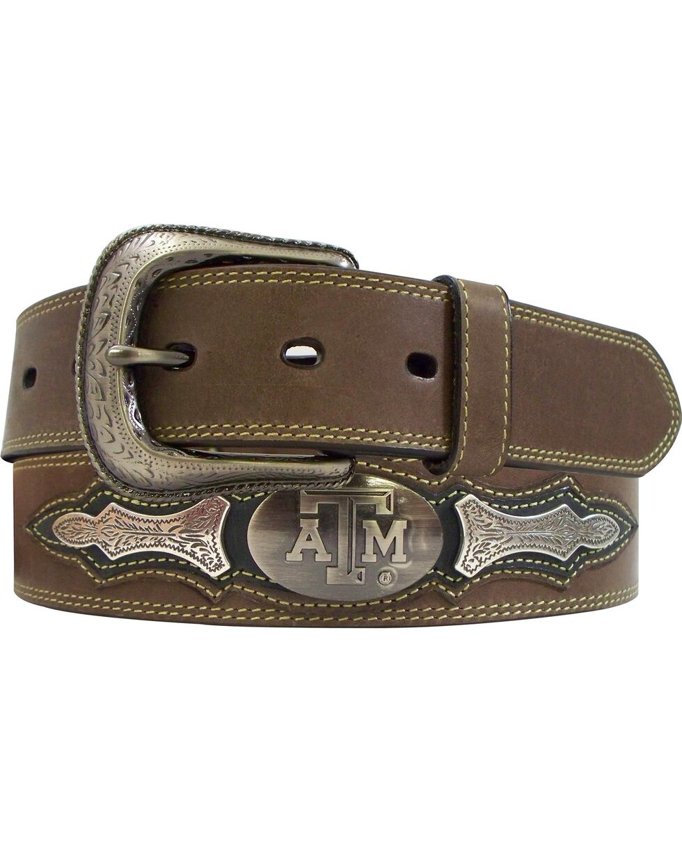 Texas A&M Concho Overlay College Belt, Brown, hi-res