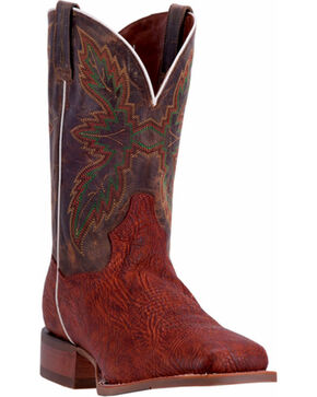 Dan Post Men's Clark Western Boots, Cognac, hi-res