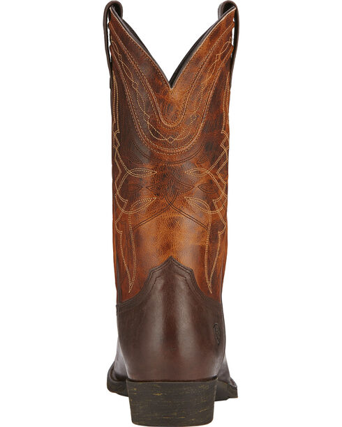 Ariat Men's Comeback Western Boots, Dark Brown, hi-res