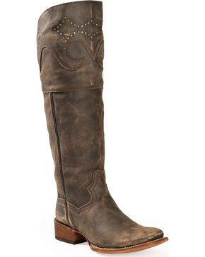 Dan Post Women's Miss Taken Tall Fashion Boots, Brown, hi-res