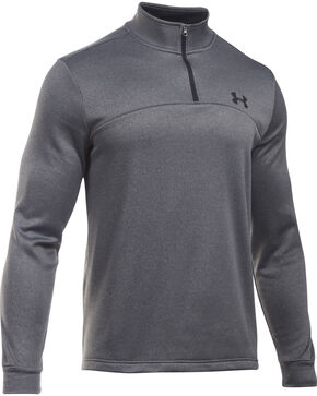 Under Armour Men's Armour Fleece 1/4 Zip Pullover , Heather Grey, hi-res