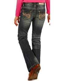 Rock & Roll Cowgirl Girls' Embroidered Boot Cut Jeans, , hi-res