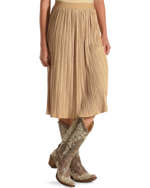 Black Swan Women's Midi Length Skirt, Tan, hi-res