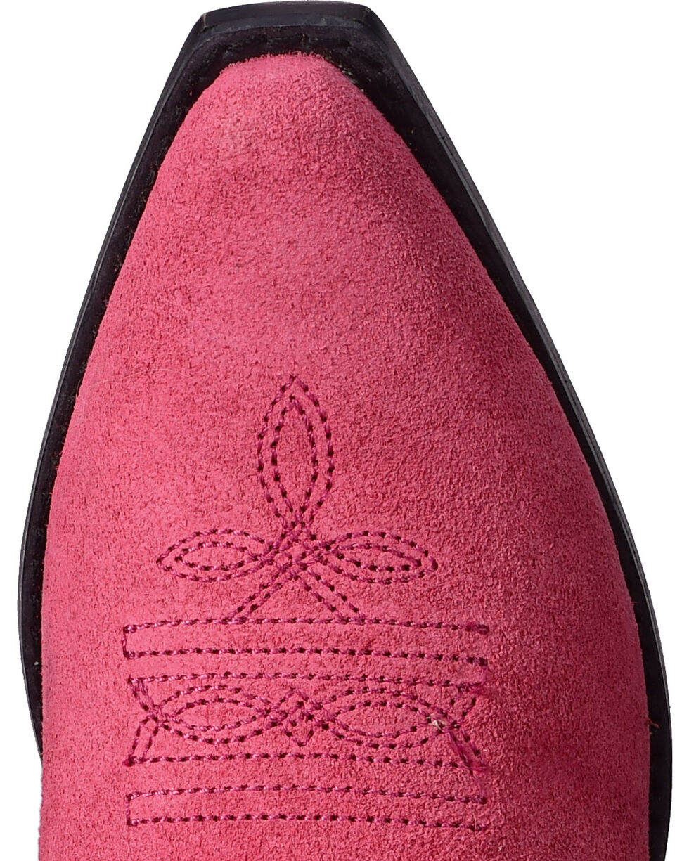 Shyanne® Girls' Fringe Western Boots, Pink, hi-res