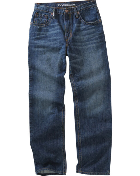 Garth Brooks Sevens by Cinch Men's Relaxed Boot Cut Jeans, Denim, hi-res