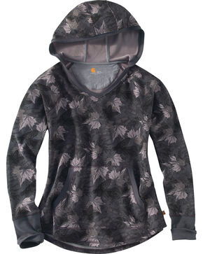 Carhartt Women's Grey Camo Meadow Printed Hoodie , Camouflage, hi-res