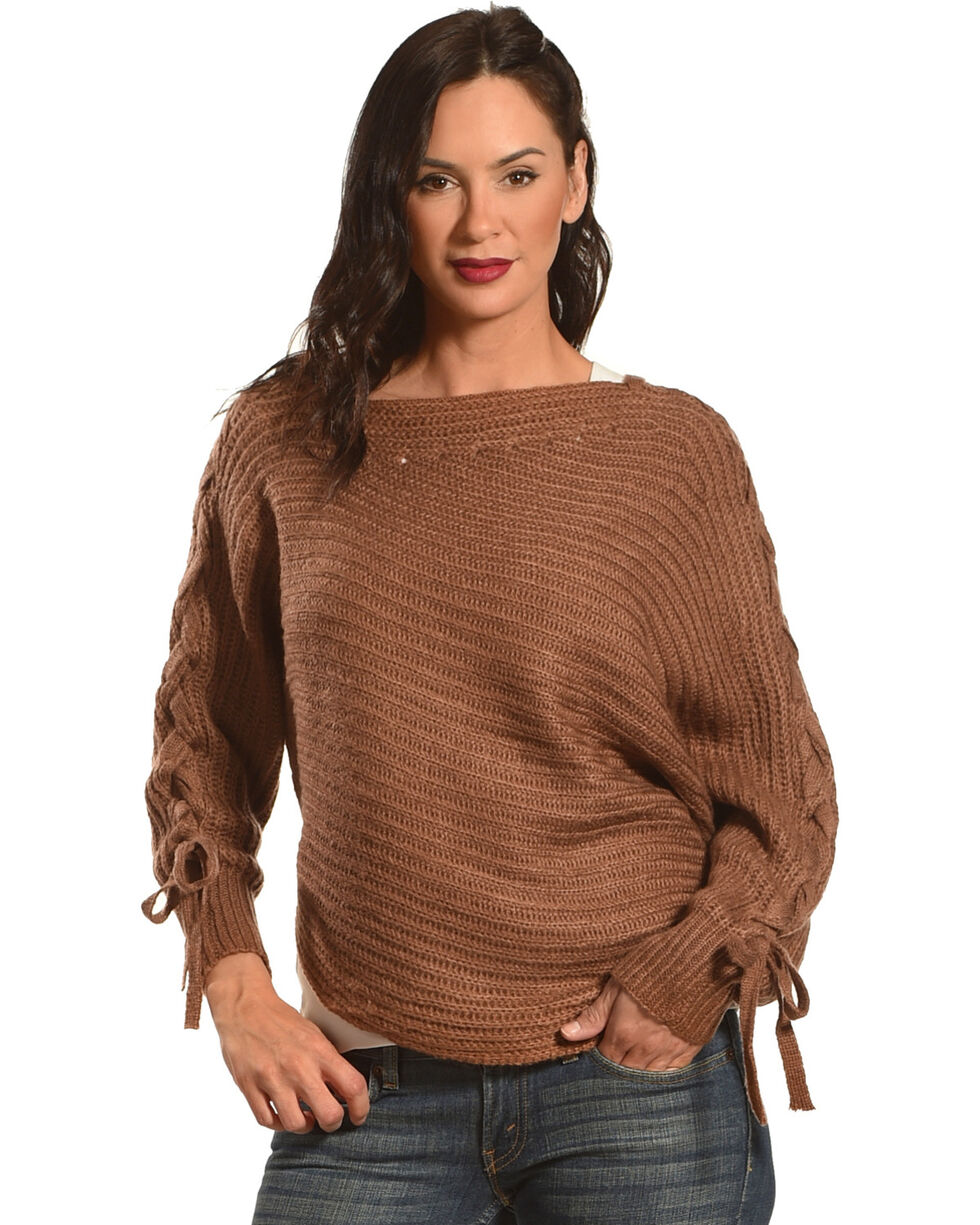 HYFVE Women's Braided Sleeves Sweater, , hi-res