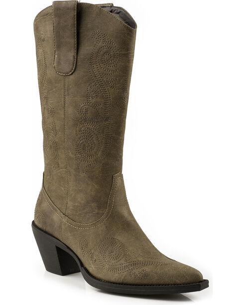 Roper Women's Narrow Toe Fashion Western Boots, Tan, hi-res