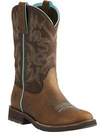 Ariat Women's Delilah Western Boots, Brown, hi-res