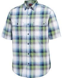 Wolverine Men's Navy Springport Short Sleeve Plaid Shirt , , hi-res