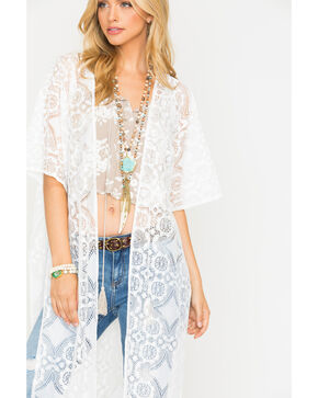 Sage the Label Women's Lia Kimono , White, hi-res