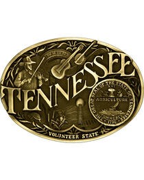 Montana Silversmiths Tennessee State Belt Buckle, , hi-res